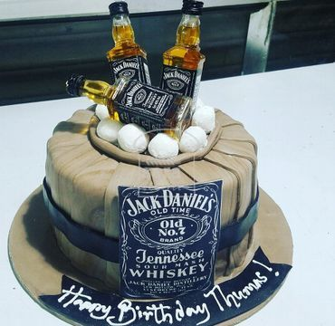 Fondant Cake with JD Toppings FD101