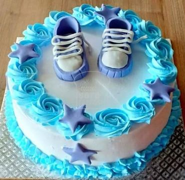 Blue Theme Baby Shower Cake BS110
