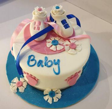 Baby Shower Cake with Shoes BS111