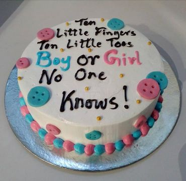 Boy or Girl Baby Shower Cake BS117
