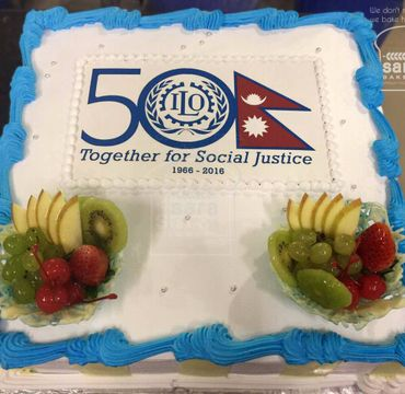 ILO 50 Years Celebrations Florida Cake OC113