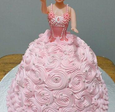 Pink Barbie Doll Cake HR193