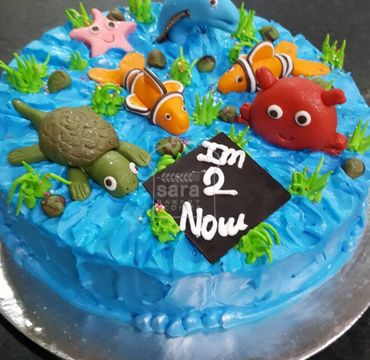 Under Sea Theme Cake HR195