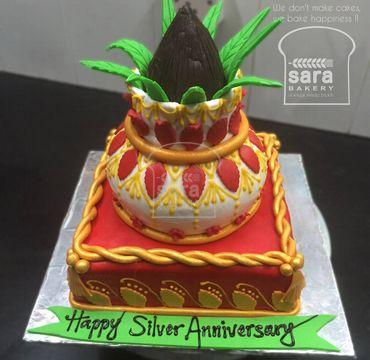 Silver Anniversary Cake EA150
