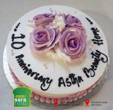 10 Anniversary Vanilla Cake EA151