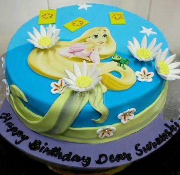 Rapunzel Fondant Cake HR197