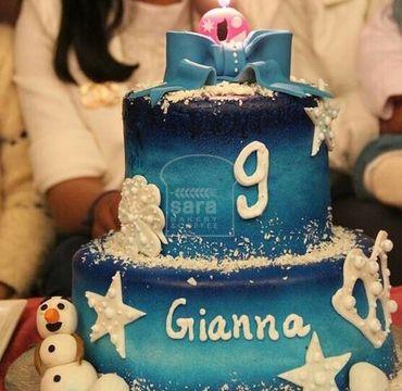 Frozen Theme Vanilla Cake HR198