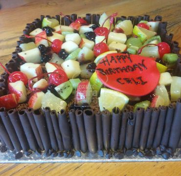 Double Chocolate with Fruits Cake RG126