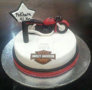 Harley Davidson Theme Cake HM303