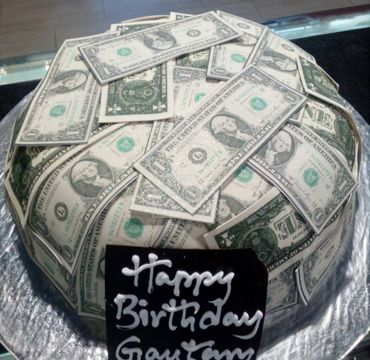 Dollar Theme Cake HM304
