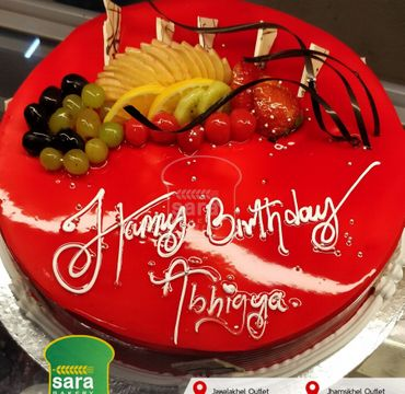 Strawberry Cake with Fruits RG128