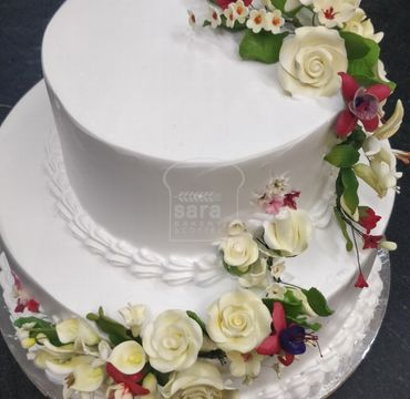 Two Tier Engagement Cake EA133