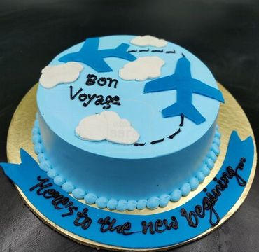 Vanilla Farewell Cake with plane FW128