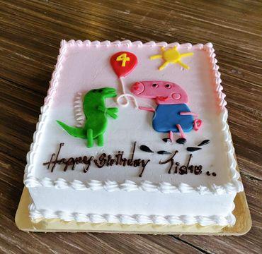 Peppa Pig Theme Vanilla Cake HR207